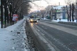 Автобус на ул. Комсомольской