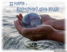Всемирный день воды отметили школьники