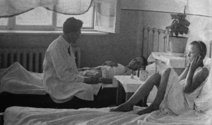 В детской б-це 1937г