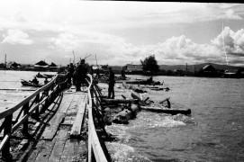 Биробиджан 50-60 гг. Наводнение Совсем старый мост  в районе парка Фото Ю.Косвинцева