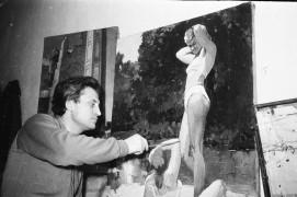 Биробиджан Шестидесятые Занятие по живописи на худграфе биробиджанского педучилища Фото Ю.Косвинцева