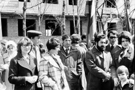 Биробиджан Семидесятые Врачи областной больницы Перед демонстраций Фото Ю.Косвинцева