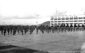 Биробиджан Восьитдесятые Праздничные спортивные выступления на площади им. Ленина Фото Ю.Косвинцева