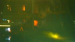 Ночной пожар в Облучье
