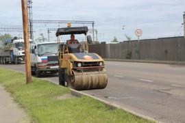 Ямочный ремонт возобновился в Биробиджане после продолжительных дождей (2)