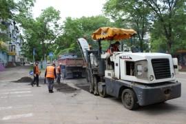 Ямочный ремонт возобновился в Биробиджане после продолжительных дождей (27)