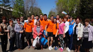 Победа в легкоатлетической эстафете команды школы №1.2014г.