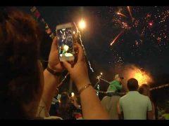 Грандиозным фейерверком завершилось празднование Дня молодежи в Биробиджане
