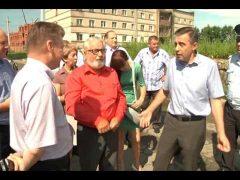 Ход работ по водоотведению проверил Евгений Коростелёв в микрорайоне Сопка Биробиджана