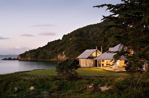 картинки домов на берегу озера