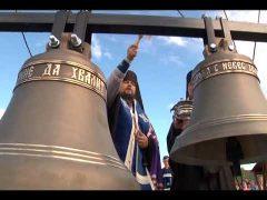 Небесно-синие купола и новые колокола украсили строящийся храм в п.Кульдур ЕАО