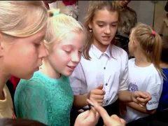 Школьники примерили обмундирование спецназа