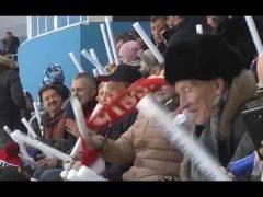 Грандиозное шоу устроили для зрителей во время открытия ЧМ по бенди в Хабаровске