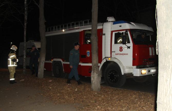 Из горящего дома эвакуировали семью пожарные в Биробиджане